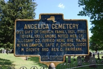 Angelica Cemetery Marker image. Click for full size.
