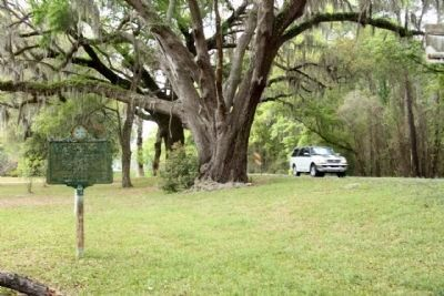 Newnansville Town Site Marker seen along Florida Route 235 image. Click for full size.