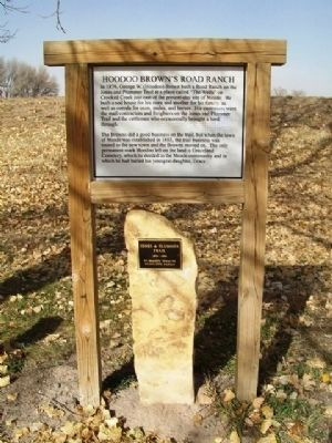 Hoodoo Brown's Road Ranch Marker image. Click for full size.