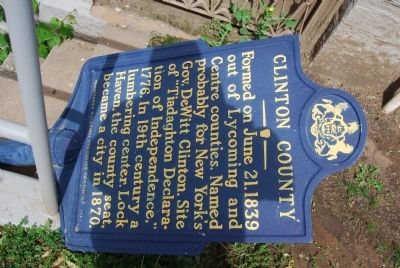 Clinton County Marker image. Click for full size.