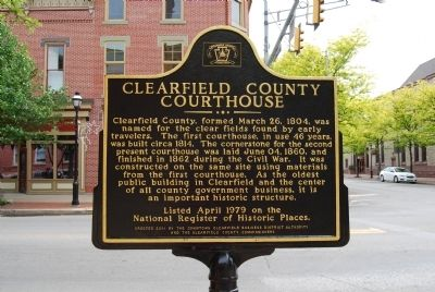 Clearfield County Courthouse Marker image. Click for full size.
