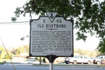 Old Rustburg Marker image. Click for full size.