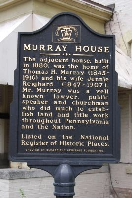 Murray House Marker image. Click for full size.