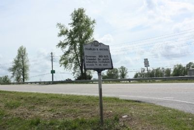 Charles B. Aycock Marker looking south along US 117 image. Click for full size.