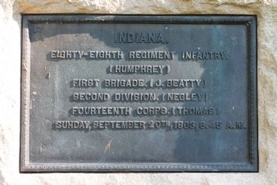 88th Indiana Infantry Marker image. Click for full size.
