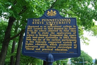 The Pennsylvania State University Marker image. Click for full size.