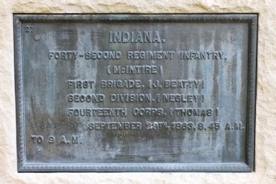 42nd Indiana Regiment Marker image. Click for full size.