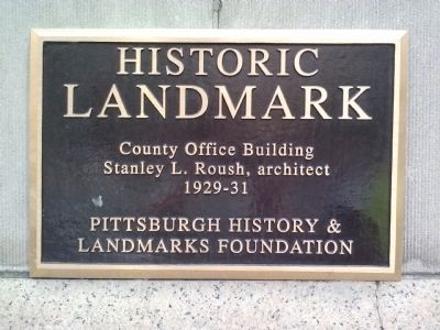 County Office Building Marker image. Click for full size.