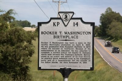 Booker T. Washington Birthplace Marker image. Click for full size.