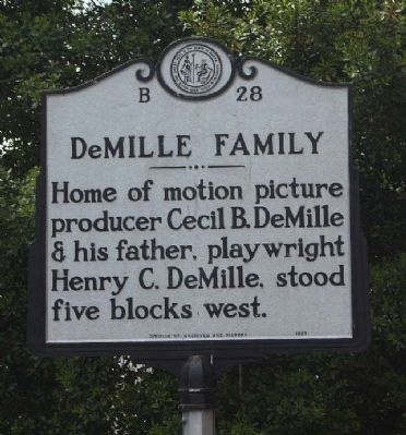 DeMille Family Marker image. Click for full size.