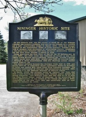 Nininger Historic Site Marker image. Click for full size.