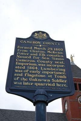 Cameron County Marker image. Click for full size.