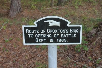 Route of Croxton's Brig. Marker image. Click for full size.