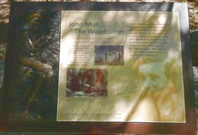 John Muir... The Woodcutter Marker image. Click for full size.