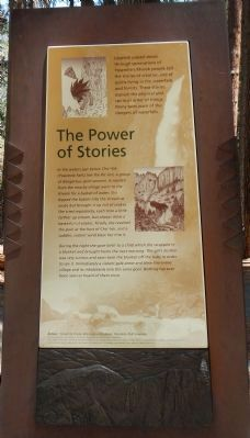 The Power of Stories plaque image. Click for full size.
