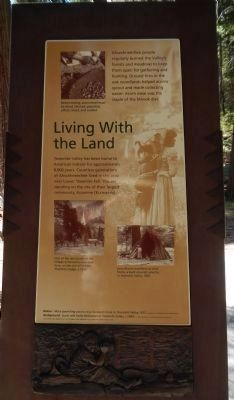 Living with the Land plaque image. Click for full size.