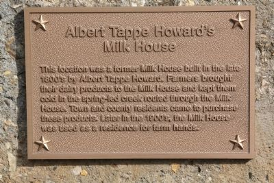Albert Tappe Howard's Milk House Marker image. Click for full size.
