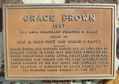 Grace Brown Marker image. Click for full size.
