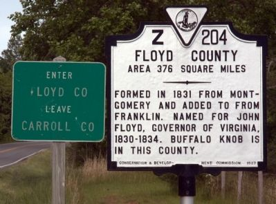 Floyd County Face of Marker image. Click for full size.