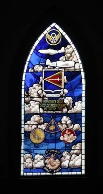 355th Fighter Group Stained Glass window at nearby Chapel of the Fallen Eagles image. Click for full size.