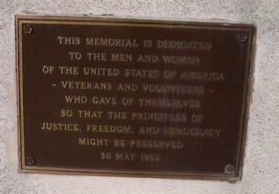College Park War Memorial, Marker Panel 1 image. Click for full size.