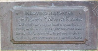 The Pioneer Mother of Kansas Marker image. Click for full size.