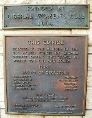 Liberal Memorial Library Marker image. Click for full size.