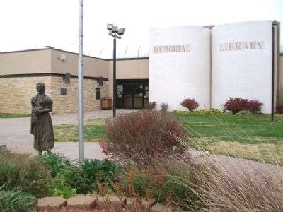 Liberal Memorial Library and Markers image. Click for full size.