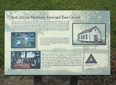Bath African Methodist Episcopal Zion Church Marker image. Click for full size.