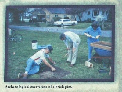 Archaeological excavations of a brick pier image. Click for full size.