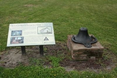 Bath African Methodist Episcopal Zion Church Marker and cast iron bell, as mentioned image. Click for full size.
