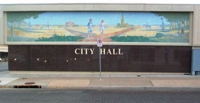 International Pancake Day Race Mural at City Hall image. Click for full size.