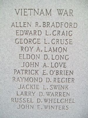 Seward County War Dead and Missing in Action Vietnam War Honor Roll image. Click for full size.