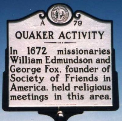 Quaker Activity Marker image. Click for full size.