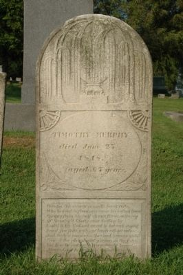 Timothy Murphy Headstone image. Click for full size.