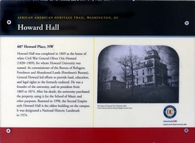 Howard Hall Marker image. Click for full size.