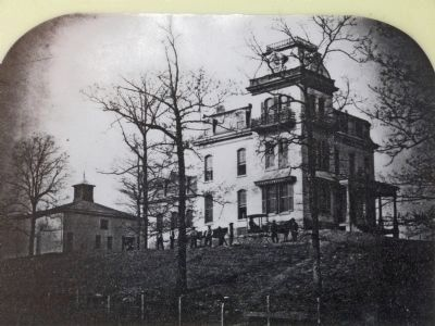 The home of General O.O. Howard, 1872. image. Click for full size.