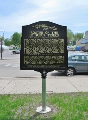 Roster of the Le Sueur Tigers Marker image. Click for full size.