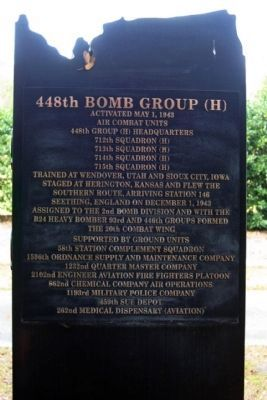 448th Bomb Group Marker back side image. Click for full size.
