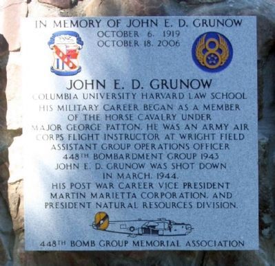 In Memory of John E. D. Grunow image. Click for full size.