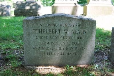 Ethelbert Nevin Original Burial Site image. Click for full size.