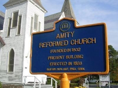 Amity Reformed Church Marker image. Click for full size.