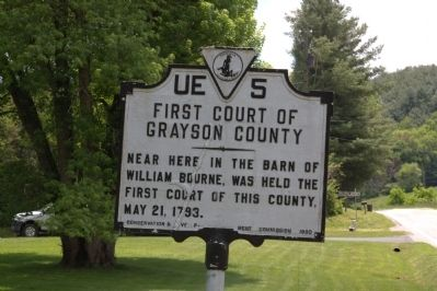 First Court of Grayson County Marker image. Click for full size.