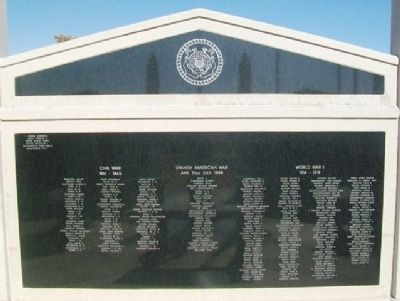 Veterans Memorial US Coast Guard Emblem Panel image. Click for full size.