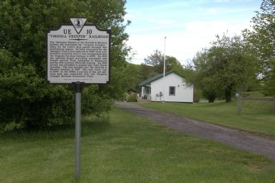 """Virginia Creeper"" Railroad Marker and Whitetop Station image. Click for full size."