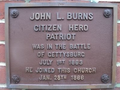 John L. Burns Marker image. Click for full size.