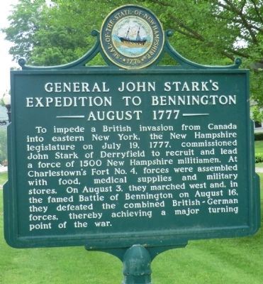 General John Stark's Expedition to Bennington Marker image. Click for full size.