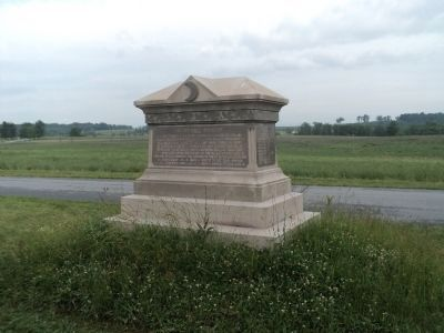 107th Ohio Infantry Marker (Rear View) image. Click for full size.