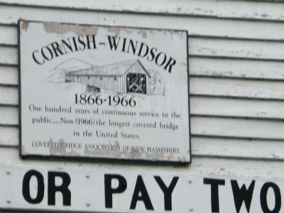 Cornish-Windsor Bridge Marker image. Click for full size.
