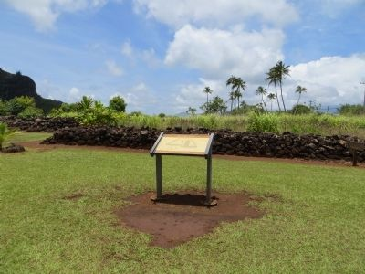 Poli'auh Heiau Marker image. Click for full size.